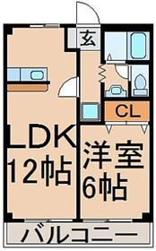 レジデンスタマ2階Fの間取り画像