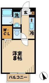 本厚木駅 バス6分「片岸」徒歩2分2階Fの間取り画像