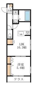 The Suite Shinkoiwa1階Fの間取り画像