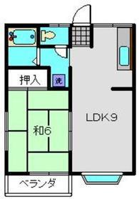 ダイアヒルズ1階Fの間取り画像