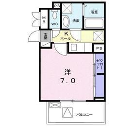グラン ジェルメ2階Fの間取り画像