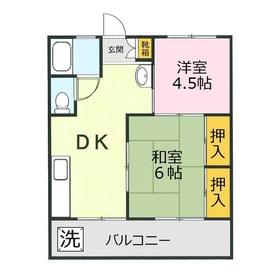 名志窪第1マンション2階Fの間取り画像