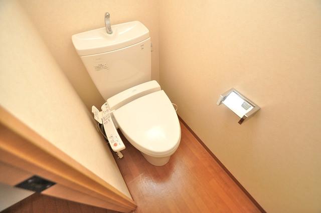 グランガーデン足代新町 清潔感のある爽やかなトイレ。誰もがリラックスできる空間です。