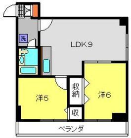 石田ビル5階Fの間取り画像