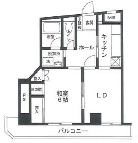 鶴見駅 徒歩3分4階Fの間取り画像