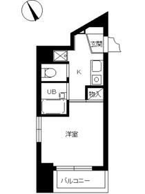 スカイコート文京本郷5階Fの間取り画像