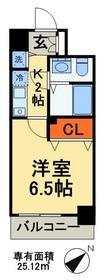 カスタリア三ノ輪14階Fの間取り画像