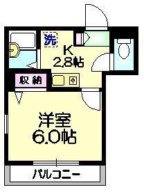 メゾン・クラージュ3階Fの間取り画像
