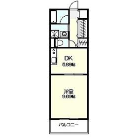 ロイヤルパーク多摩川4階Fの間取り画像