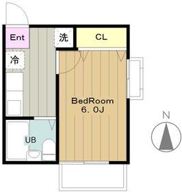 メゾンドサリュ2階Fの間取り画像