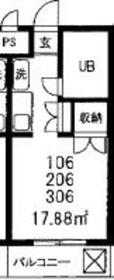 コスタ武蔵小杉1階Fの間取り画像