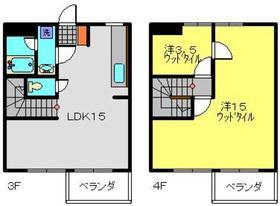 武蔵新城駅 徒歩23分2階Fの間取り画像