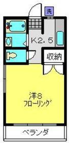 柳沼コーポ2階Fの間取り画像