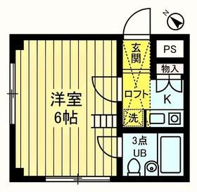 生田駅 徒歩6分2階Fの間取り画像