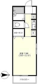 桜新町駅 徒歩3分2階Fの間取り画像