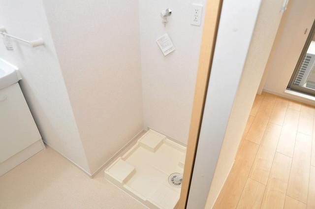 カーサプラシード 室内洗濯機置場だと終了音が聞こえて干し忘れを防げますね。