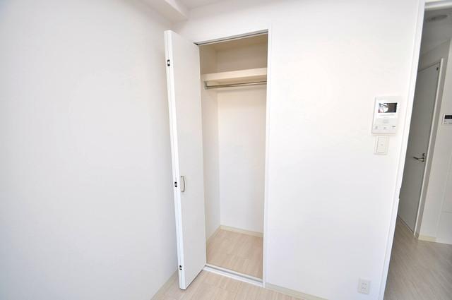 ラ・ハイール北巽 もちろん収納スペースも確保。お部屋がスッキリ片付きますね。