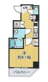 SHOKEN Residence 横浜鶴見6階Fの間取り画像