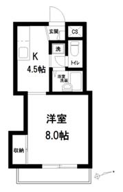 クレッセント椎名町 1号棟3階Fの間取り画像