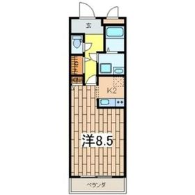 二俣川駅 徒歩9分2階Fの間取り画像