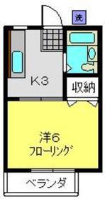 アバンス常盤台12階Fの間取り画像