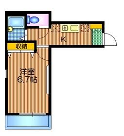 ファミール浜田山1階Fの間取り画像