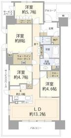 稲城長沼駅 徒歩20分3階Fの間取り画像