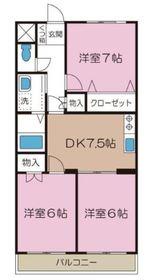 鶴ヶ峰駅 徒歩25分3階Fの間取り画像