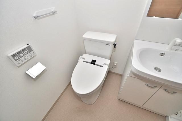 F maison MARE(エフメゾンマーレ) 白くてピカピカのトイレですね。癒しの空間になりそう。
