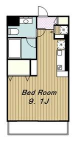ロイヤルマンションC.O.R3階Fの間取り画像
