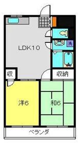 ヤマジマンション2階Fの間取り画像