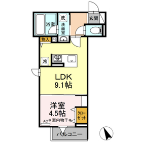 ルミナスティ2階Fの間取り画像