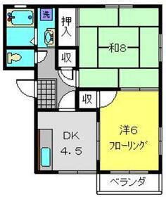 ユーチェリー2階Fの間取り画像