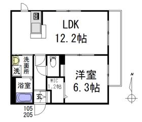 ボヌール千川一号館1階Fの間取り画像