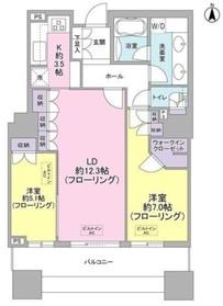 東京パークタワー23階Fの間取り画像