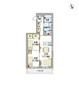(シニア限定)Vista2階Fの間取り画像