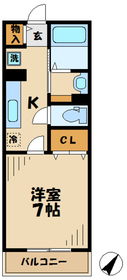 ブリッサ11階Fの間取り画像