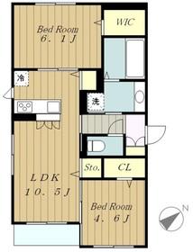 クレシェンテ2階Fの間取り画像