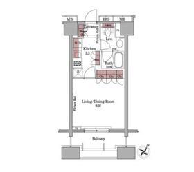 パークアクシス白金台11階Fの間取り画像