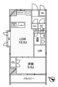 エルスタンザ文京千駄木5階Fの間取り画像