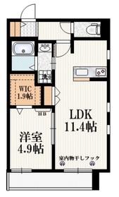 ドルフ朝志ヶ丘 Ⅱ1階Fの間取り画像