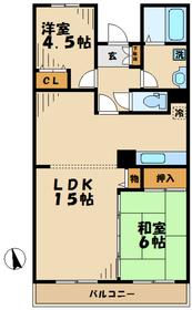 本厚木駅 車14分4.7キロ5階Fの間取り画像