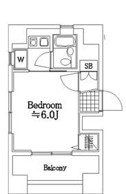 ヴェルト川崎ウエスト6階Fの間取り画像