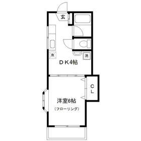 新丸子駅 徒歩10分2階Fの間取り画像