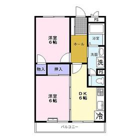 ヴェルデ・ジョイ壱番館2階Fの間取り画像