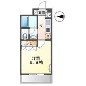 プロニティ 24S3階Fの間取り画像