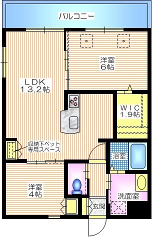 エステート東戸塚間取図