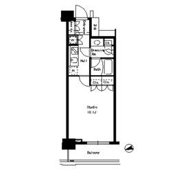 パークアクシス文京ステージ8階Fの間取り画像