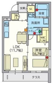 へーベルVillage万願寺1階Fの間取り画像