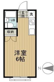 アーバンエステート2階Fの間取り画像